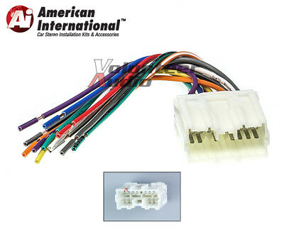 MITSUBISHI CAR STEREO CD Player Wiring Harness Wire Aftermarket
