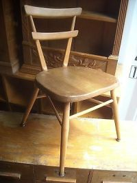 Mid Century Ercol Red Dot Child's Stacking School Chair ...
