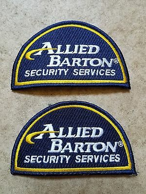 ALLIED BARTON SECURITY Services Patches - Pair - $500 PicClick - allied barton security service