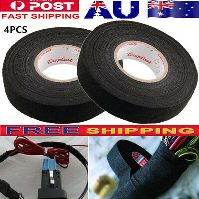 4XHEAT-RESISTANT WIRING HARNESS Tape Loom Cable Protection Adhesive