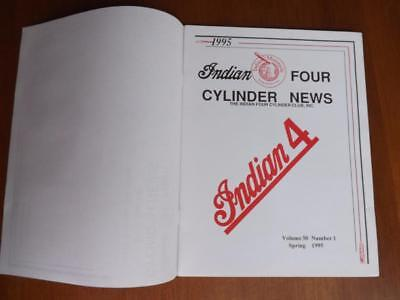 INDIAN FOUR CYLINDER News Magazine Spring 1995 Motorcycles 1938