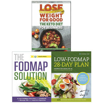 LOW-FODMAP DIET CHARTS 3 Books Collection Pack Set Keto Diet for