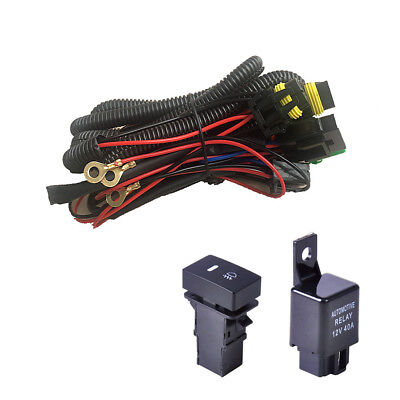 WIRING HARNESS SOCKETS + Switch for H11 Fog Light Lamp Ford Focus