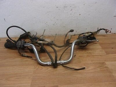 1974 HONDA CB360T handle bars with partial wire harness - $3500