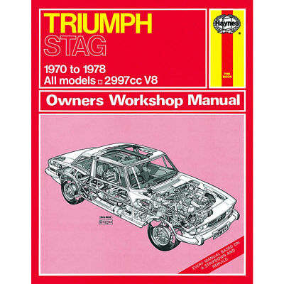 TRIUMPH STAG WORKSHOP Manual with Colour Wiring Diagram - £750
