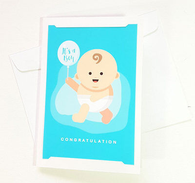 NEW BORN BABY Congratulations Card It\u0027s a Boy To Cards Greeting
