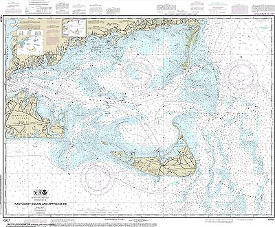 NOAA NAUTICAL CHART 13237 Nantucket Sound And Approaches Water Resistance  Paper