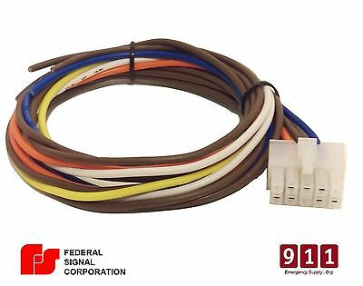 FEDERAL SIGNAL SIREN Cable PA 300 SS200 Power Harness Plug 12 Pin