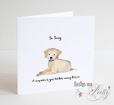 HANDMADE PET DOG Sympathy Card - Condolence Bereavement - Sorry For