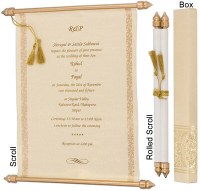 100PCS SCROLL WEDDING Invitations Cards Lot with Box - $18475