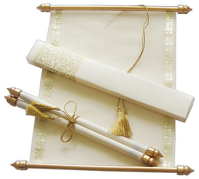100PCS BEIGE GOLD Scroll Wedding Invitation Cards Personalized Party