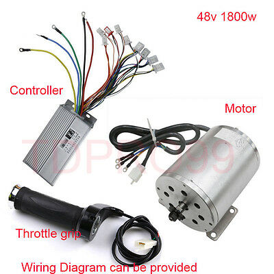 BRUSHLESS MOTOR CONTROLLER Throttle Grip Electric Bike Scooter ATV