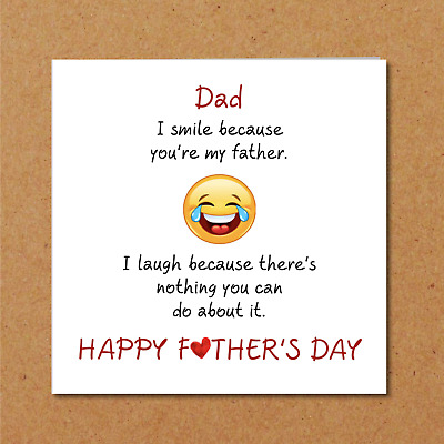 FUNNY FATHERS DAY Card from son daughter to Dad Smile, laugh, fun
