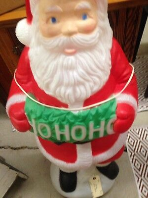TPI SANTA WITH Puppy Blow Mold Christmas Lighted Yard - $7999