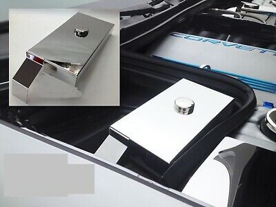 CORVETTE C5 1997-2004 Stainless Steel 2 Pc FUSE BOX COVER w/ CHROME