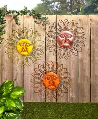 TROPICAL METAL Wall Art Hanging Sculpture Outdoor Fence ...
