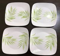 CORELLE BAMBOO Leaf Square Dinner Plates - CAD $13.92 ...