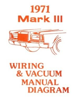LINCOLN 1970 CONTINENTAL Mark III Wiring Diagram Manual 70 - $1199