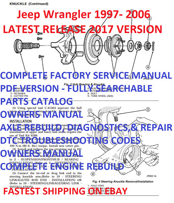 JEEP WRANGLER TJ 1997-2002 service repair manual + parts manual and