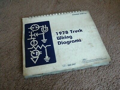 1978 FORD TRUCK Wiring Diagrams (Bronco, Econoline, F100-350 Series