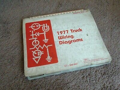 1977 FORD TRUCK Wiring Diagrams (100-800 Series) Bronco, Econoline