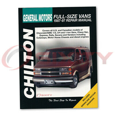 CHILTON REPAIR MANUAL for Chevy P20 Step-Van Base Shop Service