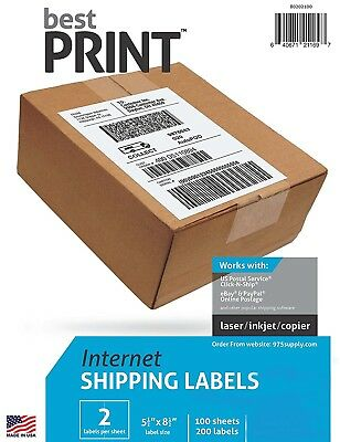 PAYPAL SHIPPING LABELS 2 PER PAGE 85x55 - BEST QUALITY - $1199