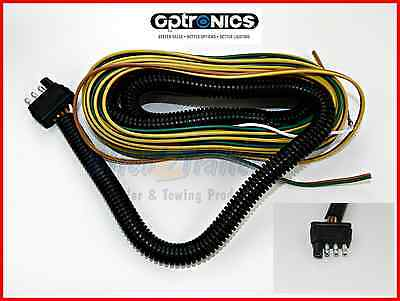 7 WAY TRAILER Light Plug Wire Harness Molded End 6 FT Heavy Duty RV