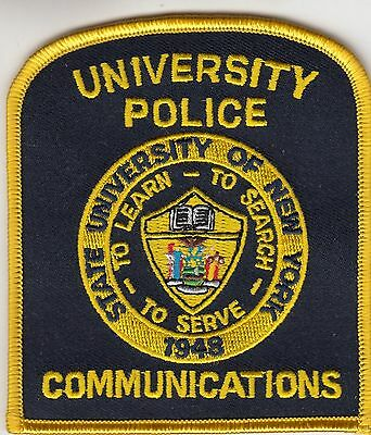 STATE UNIVERSITY OF New York Police Communications Patch Ny - $500 - Nys University Police