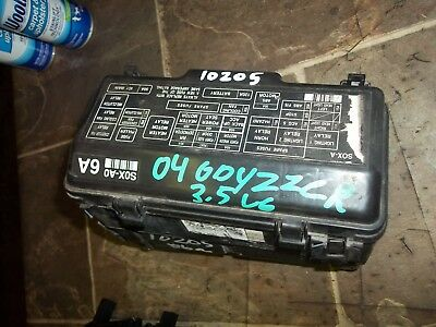 2002 2003 2004 Honda Odyssey Fuse Box Engine Compartment Ex  Ex-L
