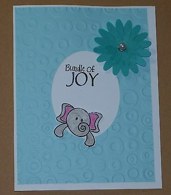 HANDMADE BUNDLE OF Joy Greeting Card~Stamped~New Baby Boy - $300
