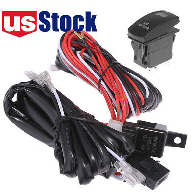 FOR POLARIS RZR 1000 900 Ranger 12V Rocker Switch Wiring Harness Led