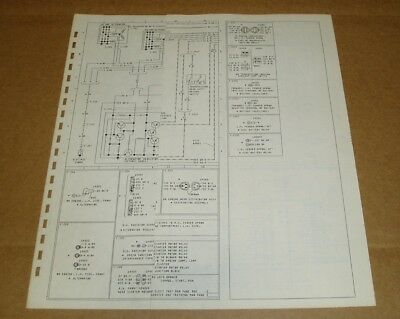1978 FORD CL 9000 Foldout Wiring Diagram 78 CL9000 Original