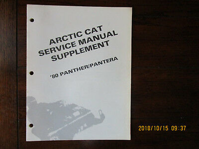 1980 ARCTIC CAT Service Manual Wiring Diagrams Eltigre, Jag, Kitty