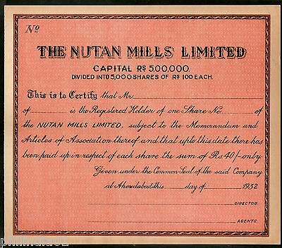 INDIA 1950\u0027S THE Aruna Mills Co-oprative Supply Limited Share