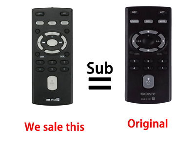 RM-X151 REPLACED REMOTE for Sony CDX-GT340 CDX-GT240 CDX-GT33W CDX