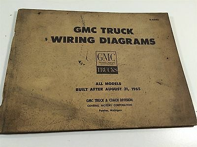 1965 GMC TRUCK Wiring Diagrams All Models Built After August 31