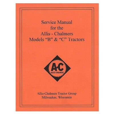SERVICE MANUAL FOR Allis Chalmers HD6A HD6B Crawler Diesel-Crawler