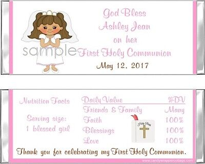 20 ADORABLE GIRL/BOY FIRST HOLY COMMUNION Personalized CANDY