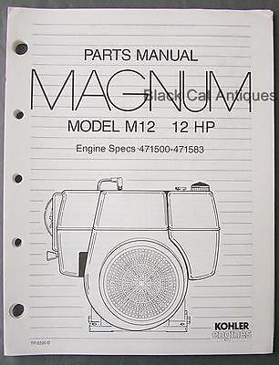 TP-2230-D PARTS MANUAL Magnum M12 KOHLER Engine Specs 471500