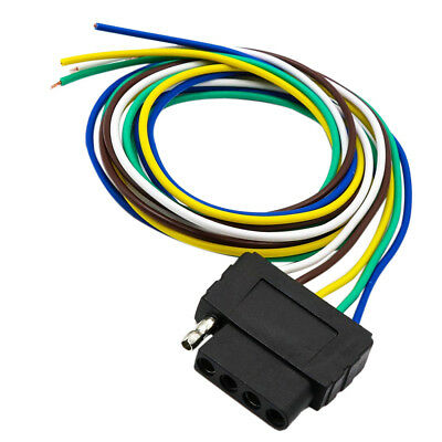 5-WAY TRAILER WIRING Connection Kit Flat Wire Extension Harness for
