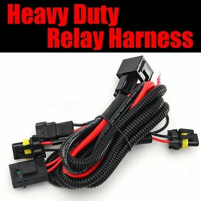 75W 100W HIGH Power HID Relay Wire Harness H1 H3 H7 H8 H9 H10 H11