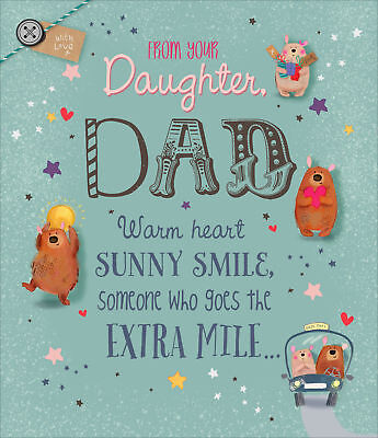 TO DAD FROM Daughter Father\u0027s Day Card Embellished Greeting Cards