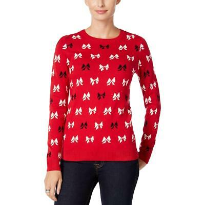CHARTER CLUB WOMENS Knit Holiday Bow Sweater Top BHFO 5281 - $1269