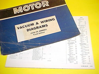 1976 LINCOLN CONTINENTAL Mark Iv Vacuum+Wiring Diagrams - $2499