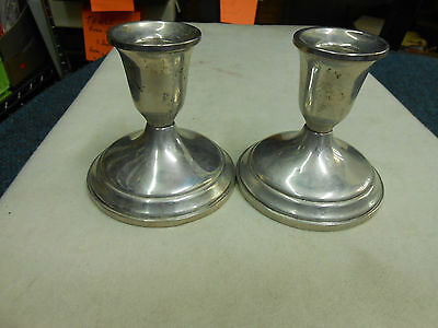 Pair Of Empire Sterling Silver Candelabra Candlesticks 3