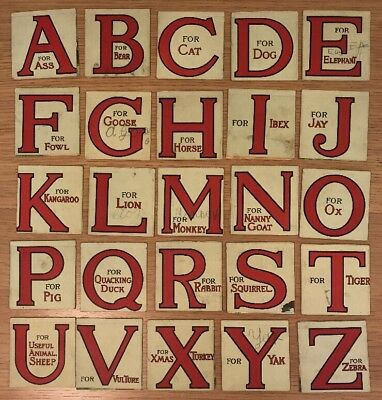 VICTORIAN POP UP Cards, 25 Letter Alphabet Card Raphael Tuck And - alphabet card