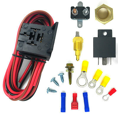 ELECTRIC COOLING FAN Wiring Harness  Relay Thermostat Controlled
