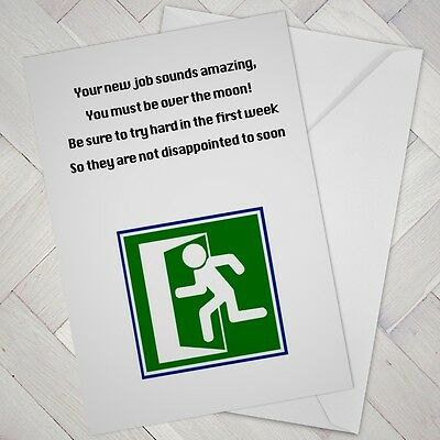 NEW JOB CARD Sorry You\u0027re Leaving humour funny cheeky joke