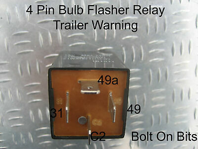 LAND ROVER DEFENDER 90 110 130 Indicator Flasher Relay 4-Pin